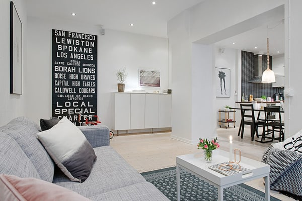 featured posts image for Spacious apartment in Sweden features charming details