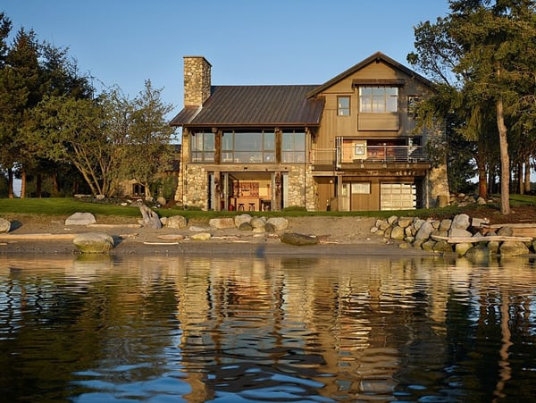 featured posts image for Seaside home with rustic elements on Lopez Island