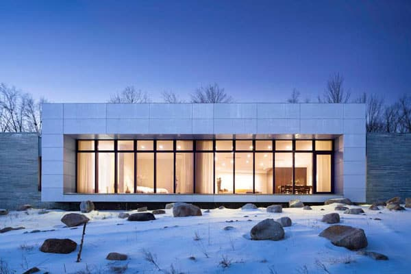 featured posts image for LEED Silver House in Upstate New York: A House in the Woods