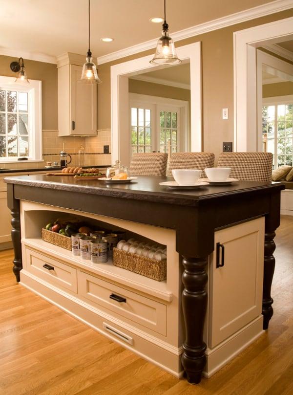 fascinating furniture style kitchen island | One Kindesign