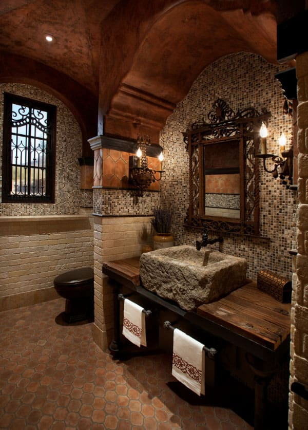 Stone Wall Bathroom-02-1 Kindesign