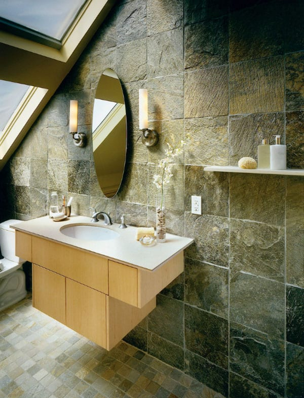 Stone Wall Bathroom-05-1 Kindesign