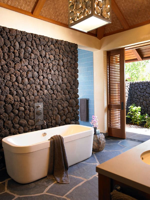 Stone Wall Bathroom-06-1 Kindesign