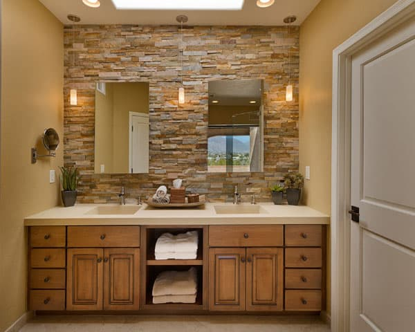 Stone Wall Bathroom-10-1 Kindesign