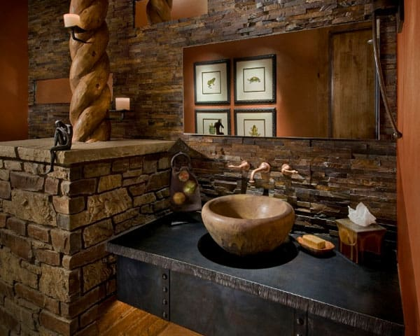 Stone Wall Bathroom-12-1 Kindesign