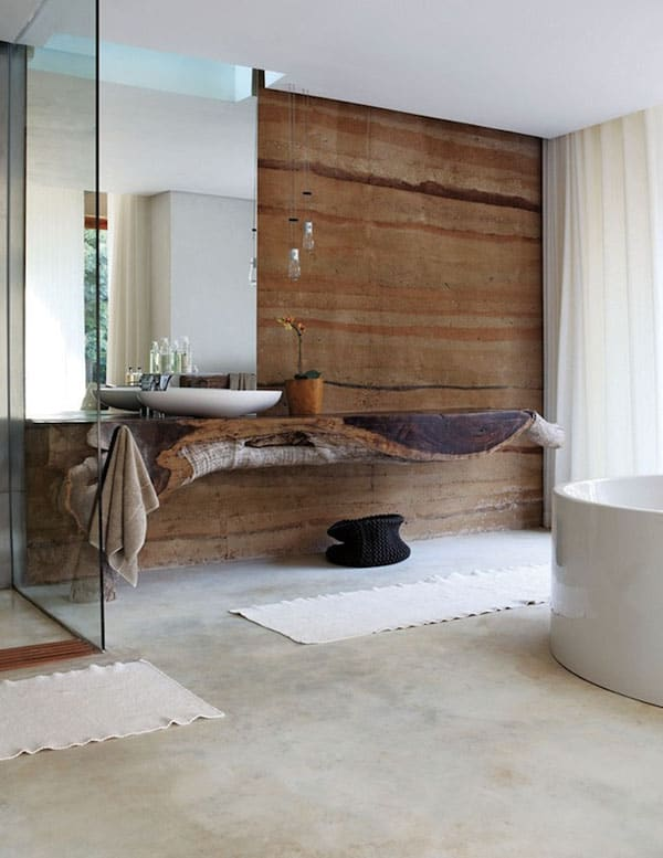 Stone Wall Bathroom-16-1 Kindesign