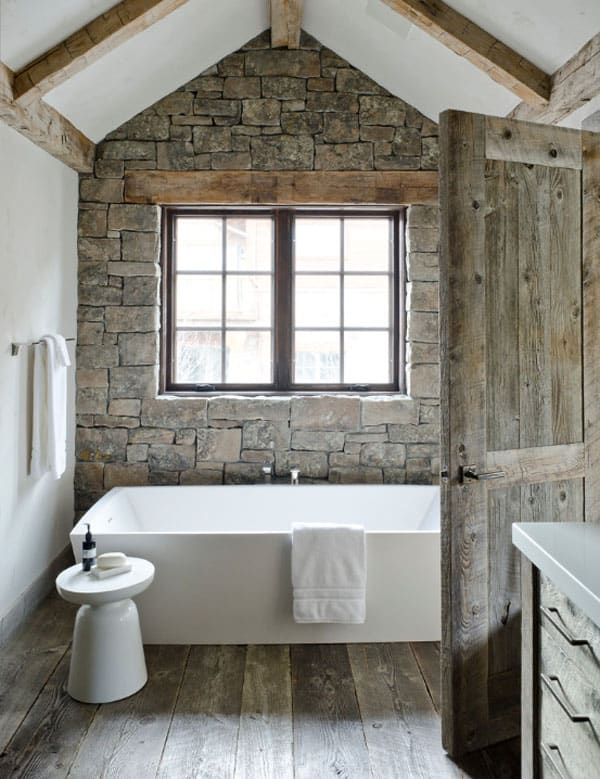 Stone Wall Bathroom-19-1 Kindesign