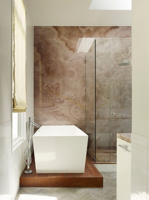 Stone Wall Bathroom-20-1 Kindesign