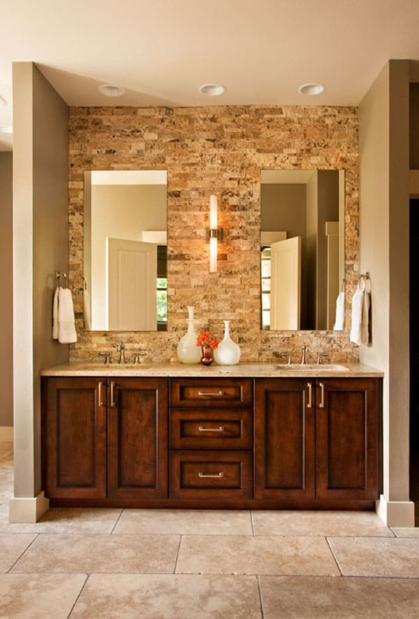 Stone Wall Bathroom 31 1 Kindesign