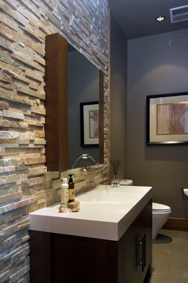 Stone Wall Bathroom-32-1 Kindesign