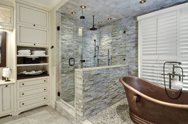Stone Wall Bathroom-36-1 Kindesign
