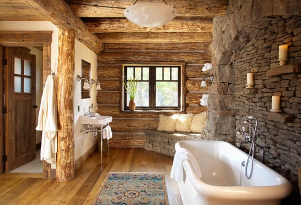 Stone Wall Bathroom-38-1 Kindesign