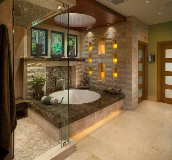 Stone Wall Bathroom-39-1 Kindesign