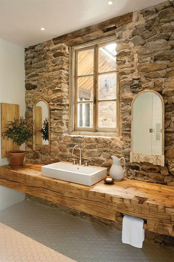 Stone Wall Bathroom-41-1 Kindesign