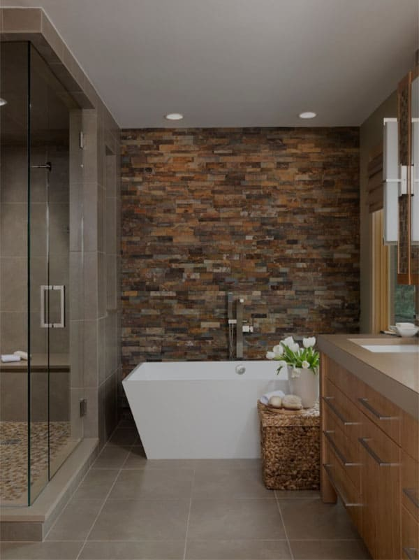 Stone Wall Bathroom-48-1 Kindesign