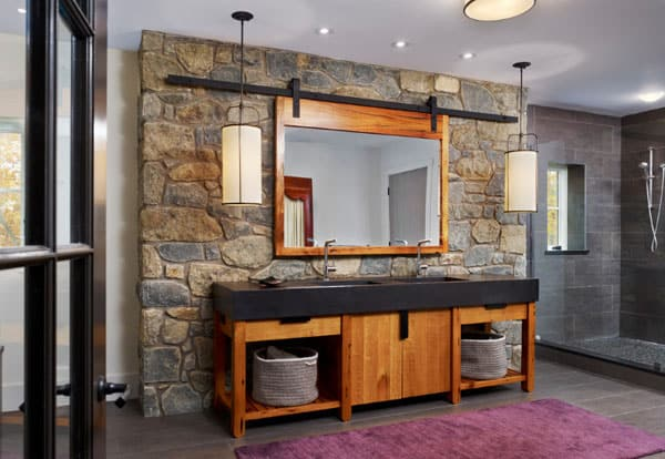 Stone Wall Bathroom-50-1 Kindesign