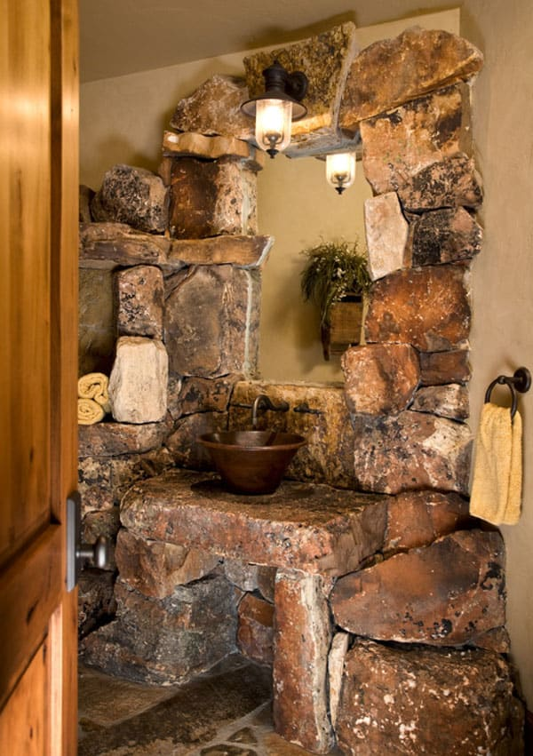 Stone Wall Bathroom-53-1 Kindesign