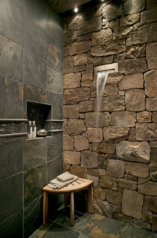 Stone Wall Bathroom-55-1 Kindesign