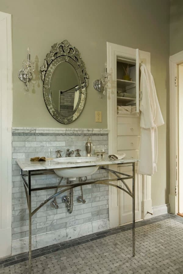 Stone Wall Bathroom-57-1 Kindesign