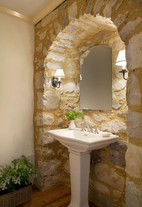 Stone Wall Bathroom-59-1 Kindesign