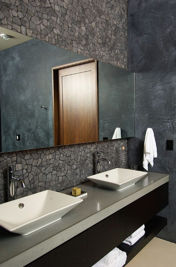Stone Wall Bathroom-61-1 Kindesign