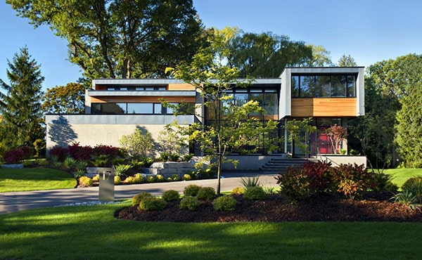 featured posts image for Stunning modern family home in Ontario: Thorncrest House