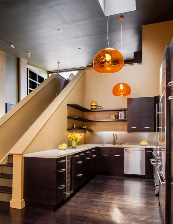 Awesome Kitchens Under The Stairs 18 1 Kindesign