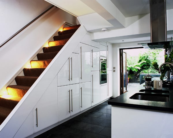 Attractive Kitchens Under The Stairs 30 1 Kindesign
