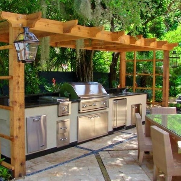 covered outdoor kitchen structures back yard outdoor kitchen designs281 kindesign 70 awesomely clever ideas for outdoor kitchen designs