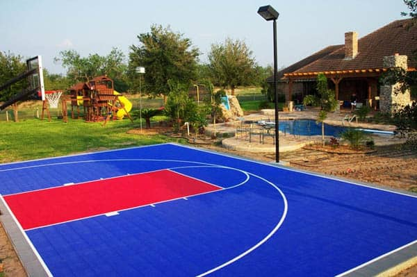 The world s most famous homes with sports courts for Built in basketball court