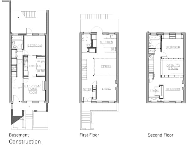 Prospect Heights Row House-Delson or Sherman Architects-21-1 Kindesign