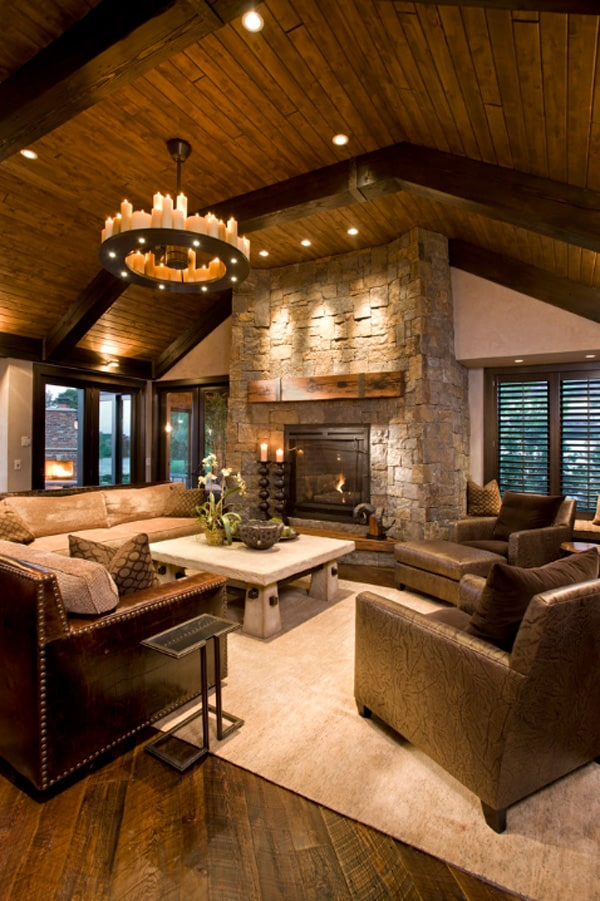 Rustic Living Rooms 01 1 Kindesign