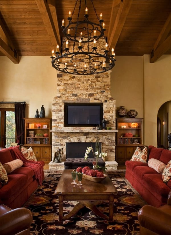 55 Awe-inspiring rustic living room design ideas on Traditional Rustic Decor  id=20613