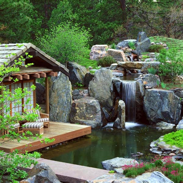 55 visually striking pond design ideas for your backyard rh onekindesign com