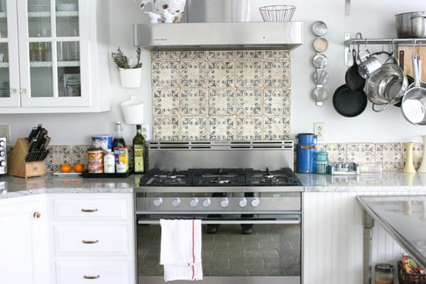 spanish tile kitchen backsplash create a decorative kitchen backsplash with cement tiles 22123