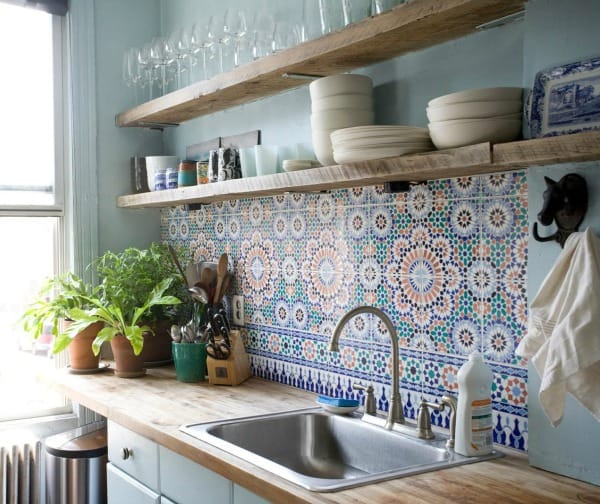 Cement Tile Kitchen Backsplash-22-1 Kindesign