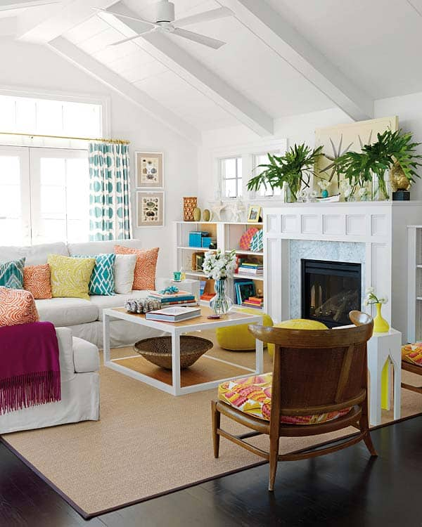 Bright And Colorful Rooms Tropical Style: 50 Energetic And Colorful Living Room Design Ideas