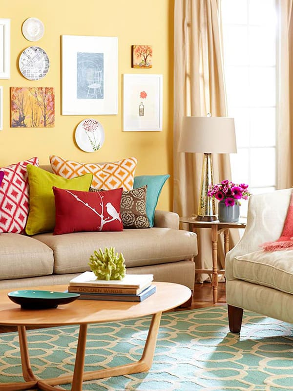 50 energetic and colorful living room design ideas for Living room 50 off january