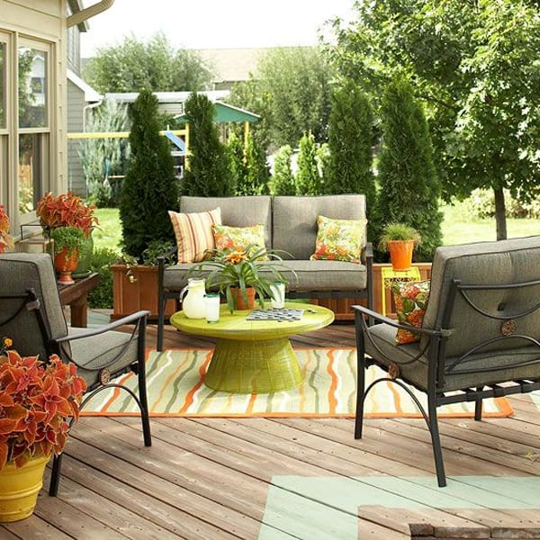 58 Amazing bright and colorful outdoor living spaces on Living Spaces Patio Set id=55072
