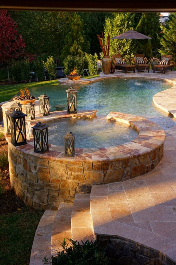 Hot Tub Spa Designs-11-1 Kindesign - 47 Irresistible Hot Tub Spa Designs For Your Backyard