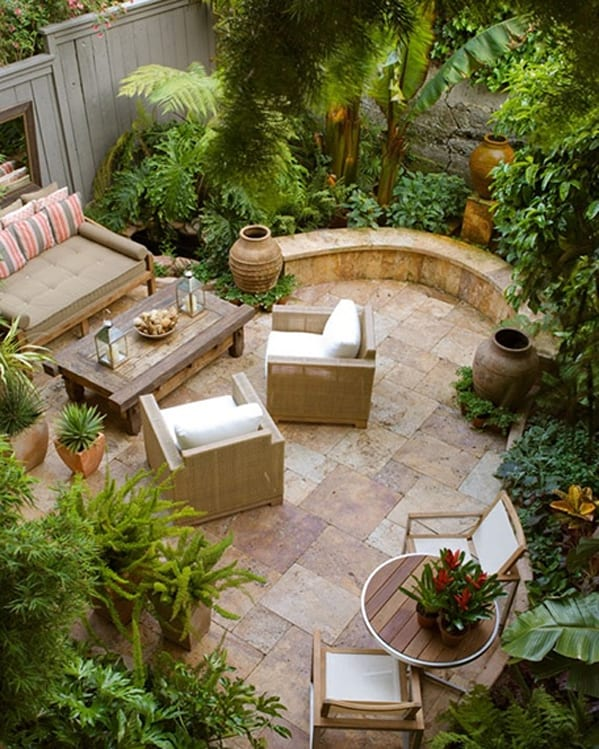 Ten Fresh Small Courtyard Garden Design Ideas Front ...