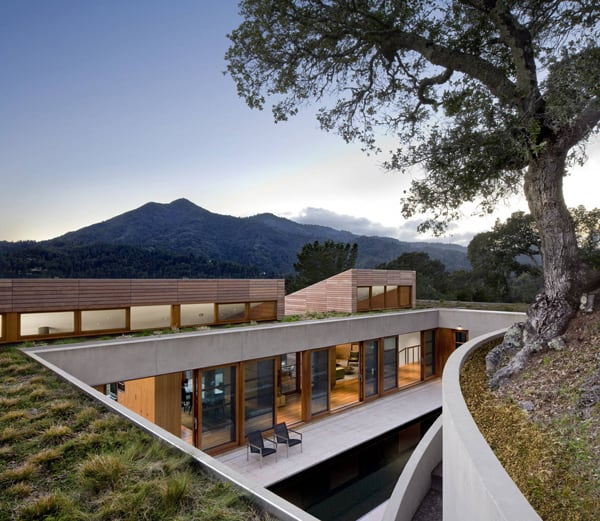 featured posts image for Partially cut into the hillside: Kentfield Hillside Residence
