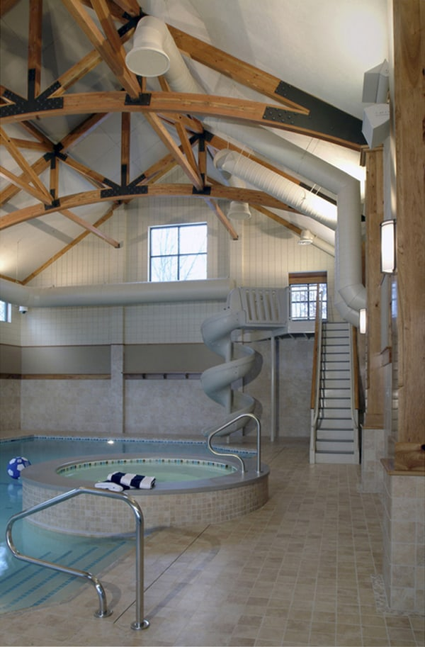 50 ridiculously amazing modern indoor pools for How to build an indoor pool