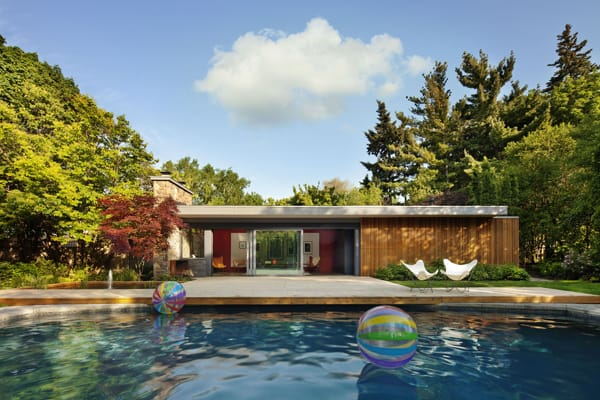 featured posts image for Mid-century modern pool house by +tongtong