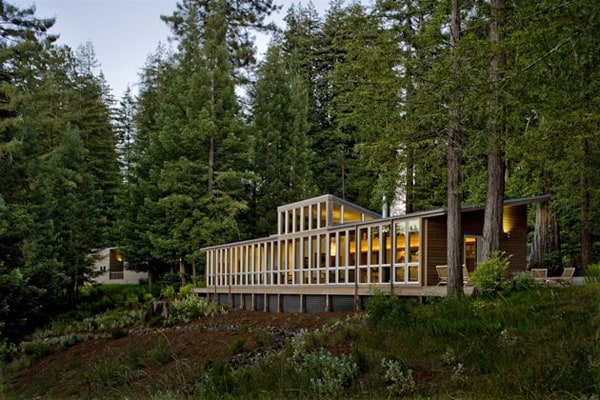 featured posts image for Sebastopol Residence opens towards a forested landscape