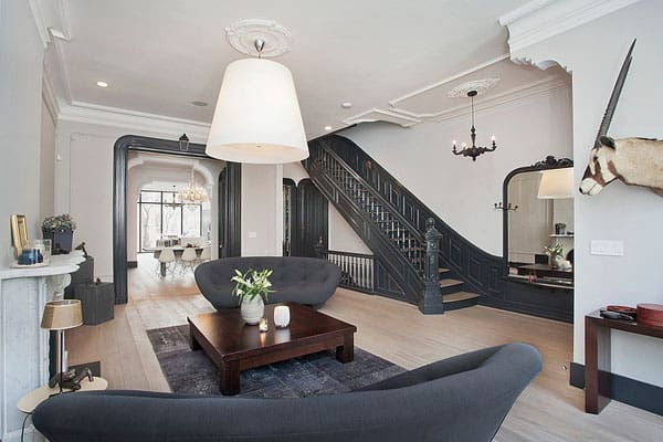 featured posts image for Stunning renovation of a four story townhouse in Manhattan