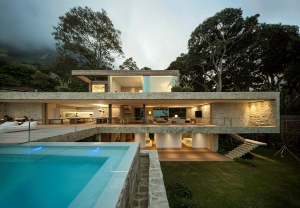 featured posts image for Sensational minimalist home set in the hills of Rio de Janeiro