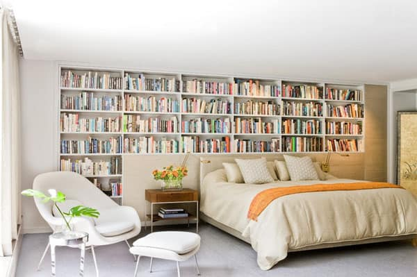 50 relaxing ways to decorate your bedroom with bookshelves - How To Decorate Bookshelves