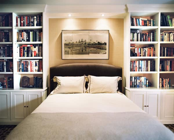 Nice Bedrooms With Bookshelves 08 1 Kindesign