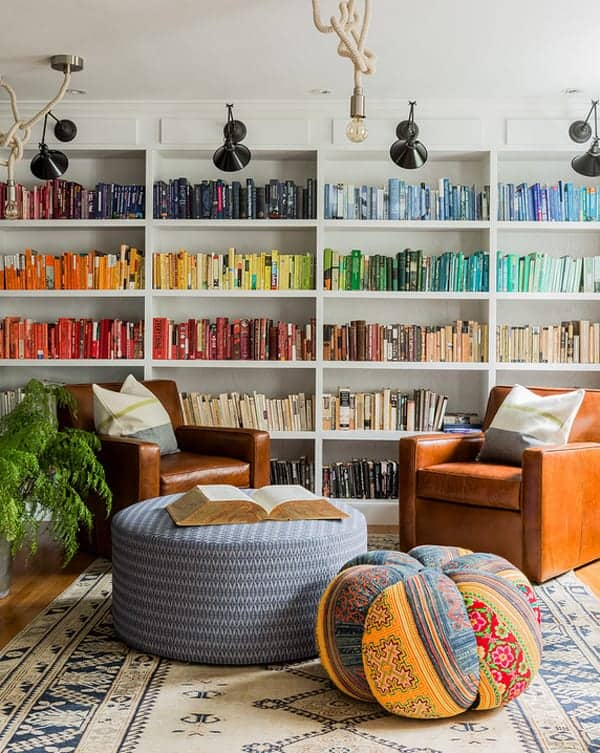 Cozy Living Spaces with Books-01-1 Kindesign
